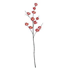 即日 【造花】YDM/カンコウバイ レッド/FS -5177-R《 造花(アーティフィシャルフラワー) 造花 花材「あ行」 ウメ(梅) 》
