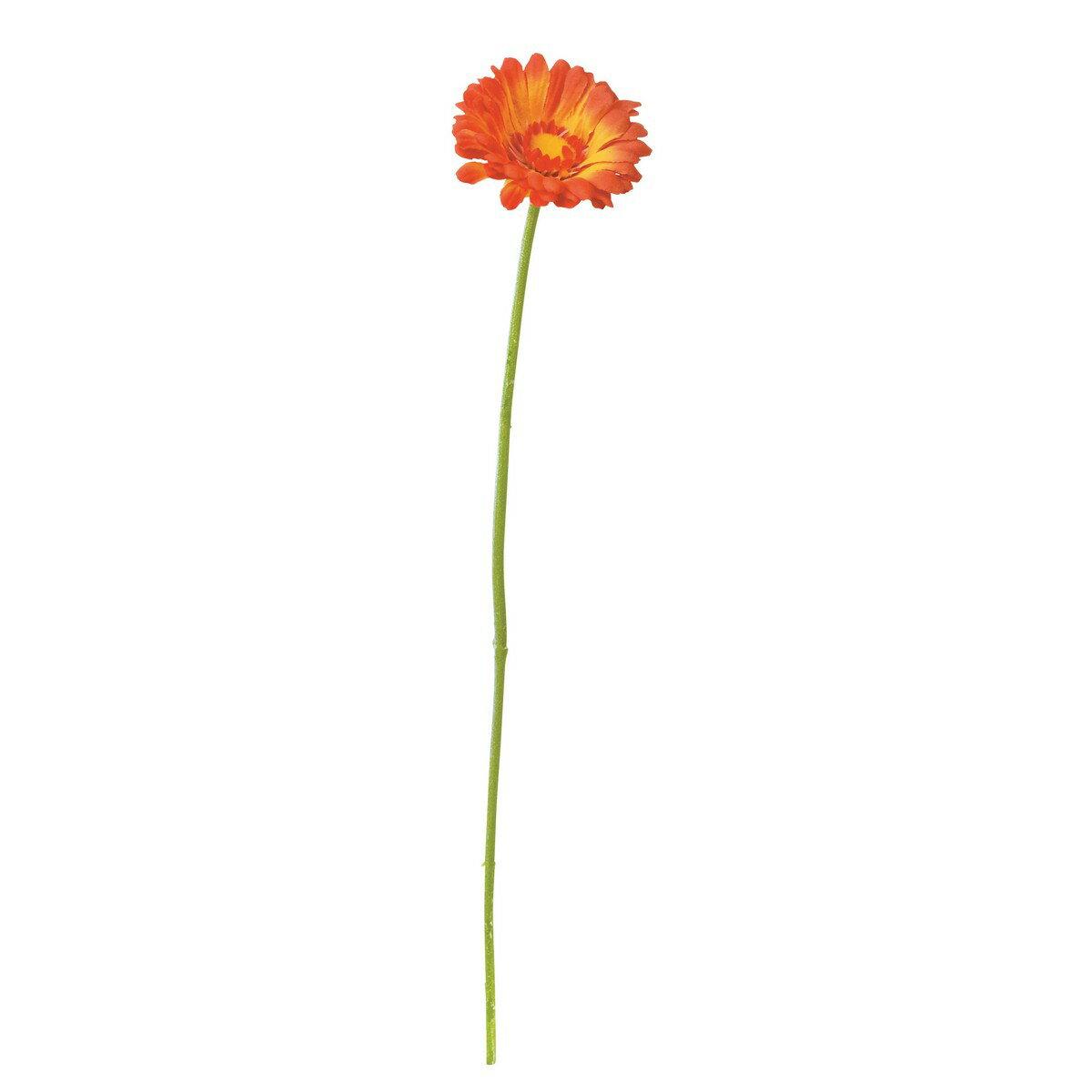 即日 【造花】YDM/ミニガーベラ オレンジ/FA -6625-OR《 造花(アーティフィシャルフラワー) 造花 花材「か行」 ガーベラ 》
