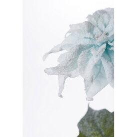 【造花】YDM/フローズンポインセチア ライトブルー/FS -6930-LBL【01】【01】【取寄】《 造花(アーティフィシャルフラワー) 造花 花材「は行」 ポインセチア 》