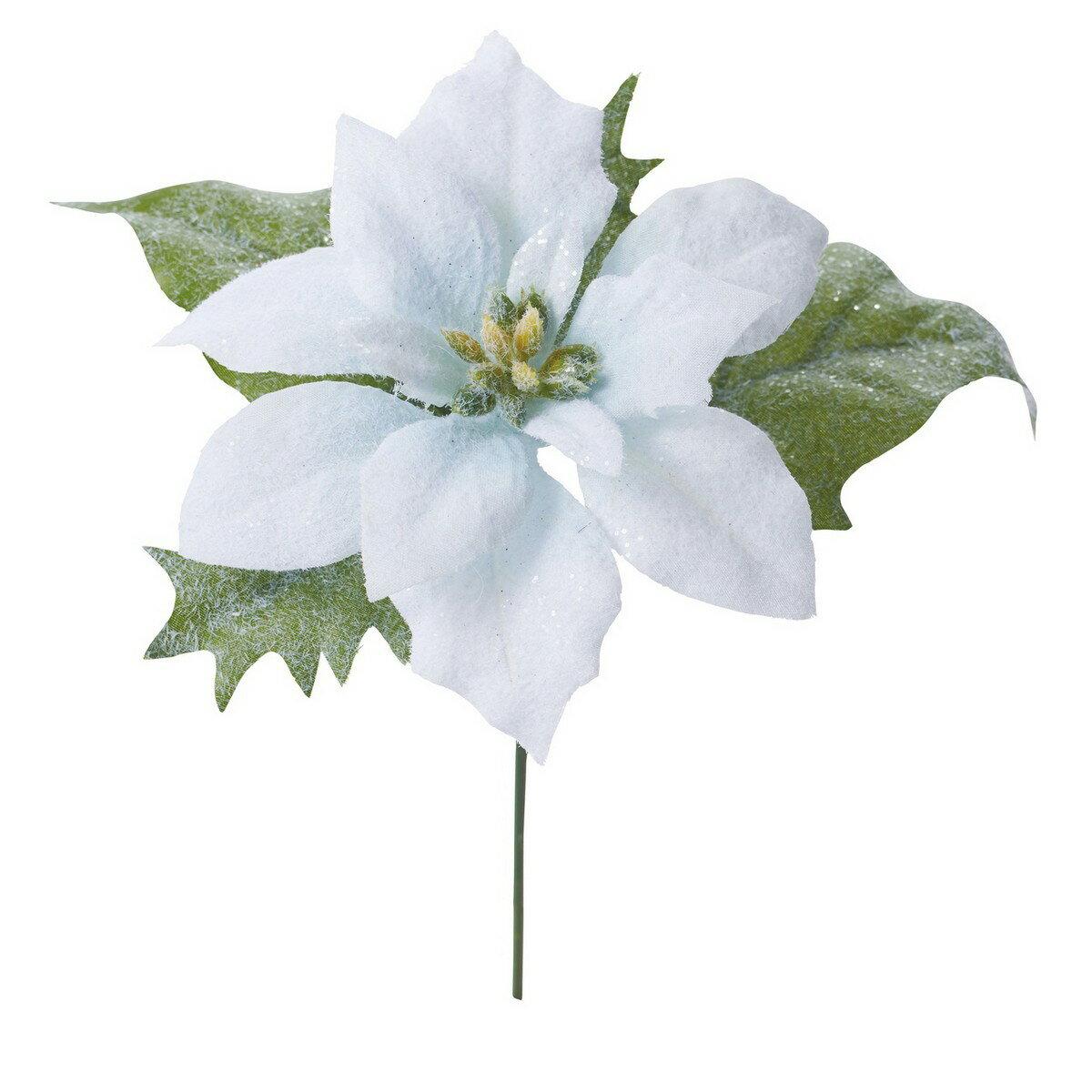 【造花】YDM/フローズンポインセチアピック ライトブルー/FS -6932-LBL【01】【取寄】《 造花(アーティフィシャルフラワー) 造花 花材「は行」 ポインセチア 》