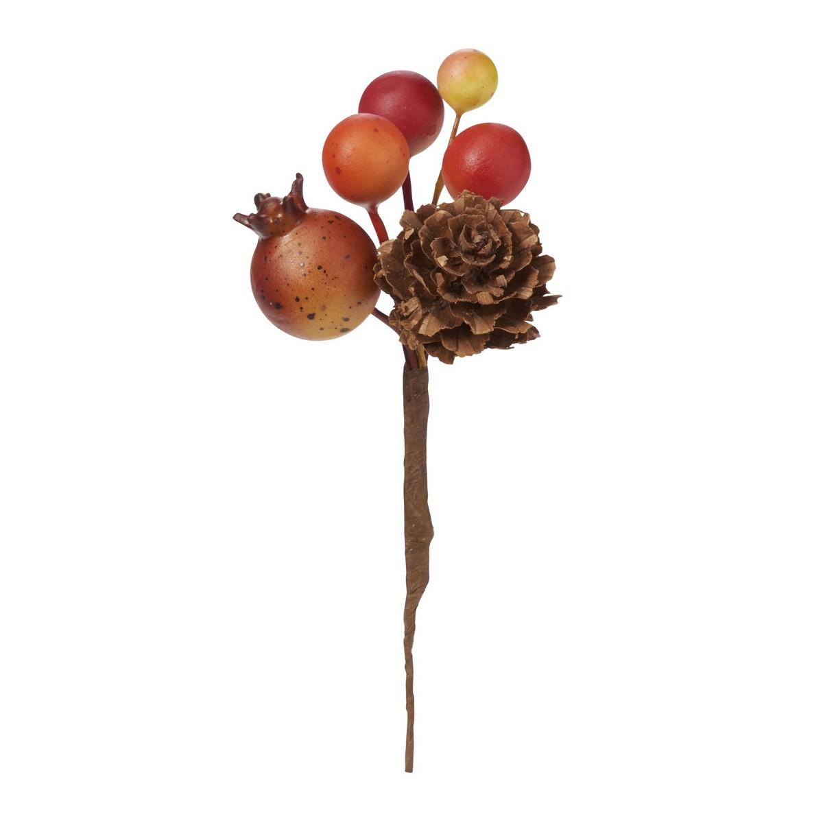 【造花】YDM/ミックスパインピック /HW -1307【01】【取寄】《 造花(アーティフィシャルフラワー) 造花実物、フェイクフルーツ 柿 》
