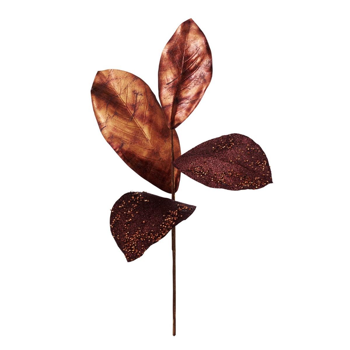大特価◎【造花】YDM/グリッターリッチマグノリアリーフ COP /CSV-108【01】【01】【取寄】《 造花(アーティフィシャルフラワー) 造花 花材「ま行」 モクレン(木蓮)・マグノリア 》