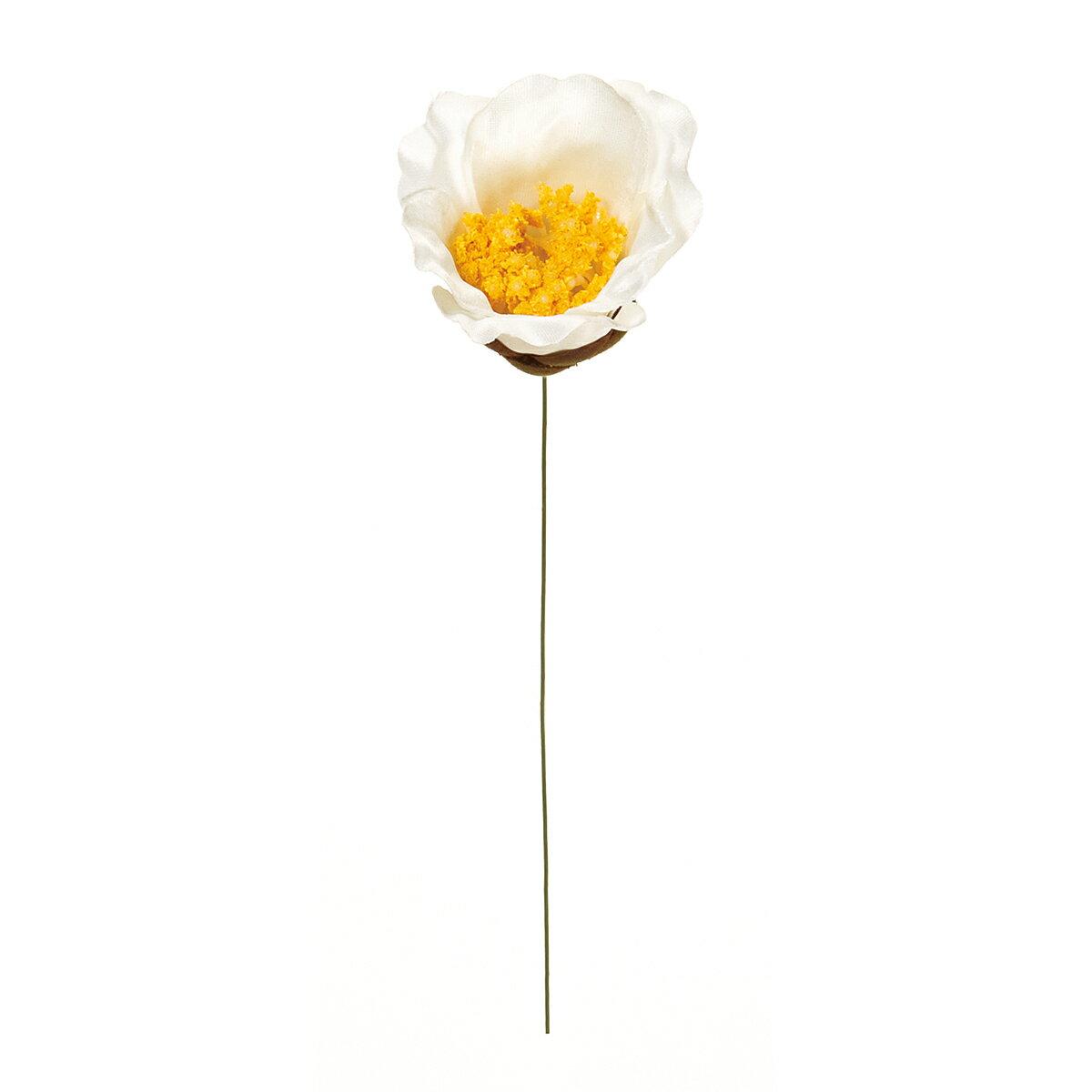【造花】MAGIQ(東京堂)/椿ピックS #1 ホワイト 3本/FJ001859-001【01】【取寄】《 造花(アーティフィシャルフラワー) 造花 花材「た行」 ツバキ(椿) 》