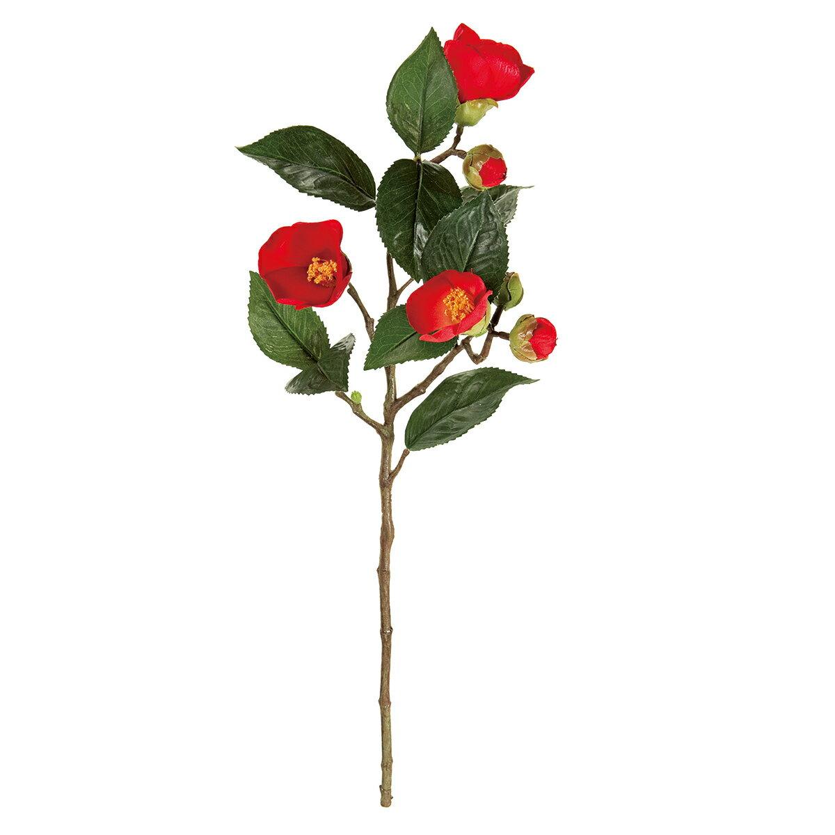 【造花】MAGIQ(東京堂)/祝い椿 #28  RED /FJ002634-028【01】【取寄】《 造花(アーティフィシャルフラワー) 造花 花材「た行」 ツバキ(椿) 》