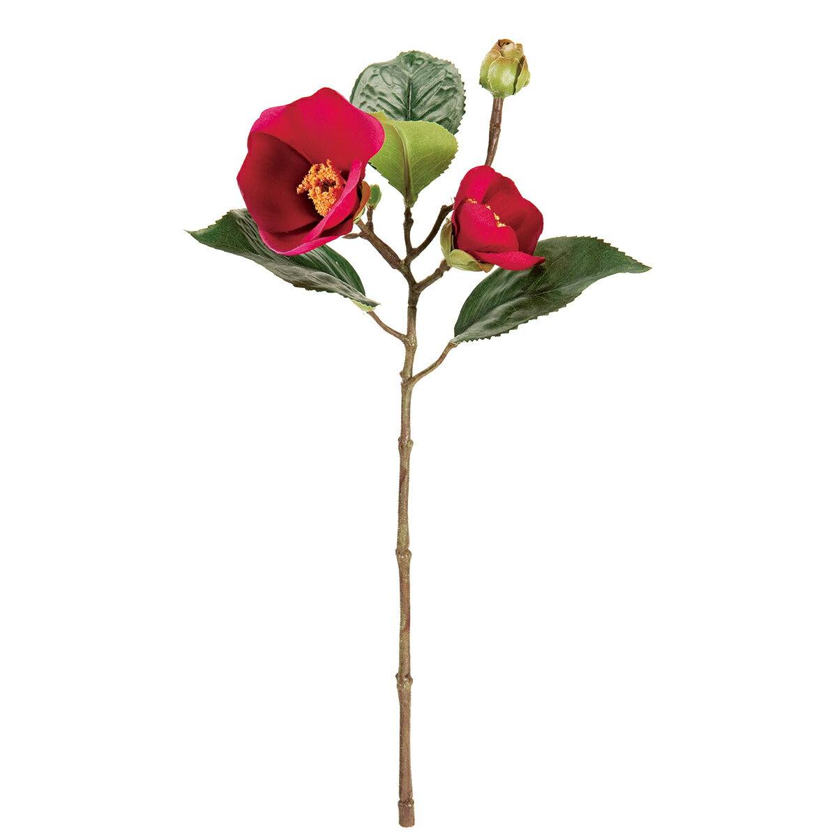 即日 【造花】MAGIQ(東京堂)/祝い椿ピック #12 FUCHSIA /FJ003634-012《 造花(アーティフィシャルフラワー) 造花 花材「た行」 ツバキ(椿) 》
