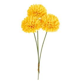 即日 【造花】MAGIQ(東京堂)/ピンポンマムピック #4 イエロー 3本/FM002927-004《 造花(アーティフィシャルフラワー) 造花 花材「か行」 キク(菊)・ピンポンマム 》