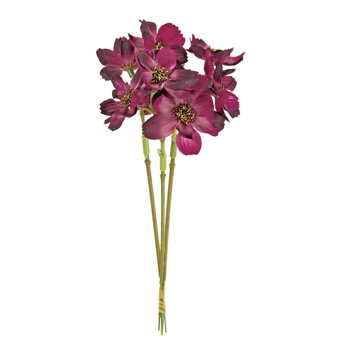 【造花】MAGIQ(東京堂)/コスモスピック #17 PURPLE 3本/FM004215-017【01】【取寄】《 造花(アーティフィシャルフラワー) 造花 花材「か行」 コスモス 》