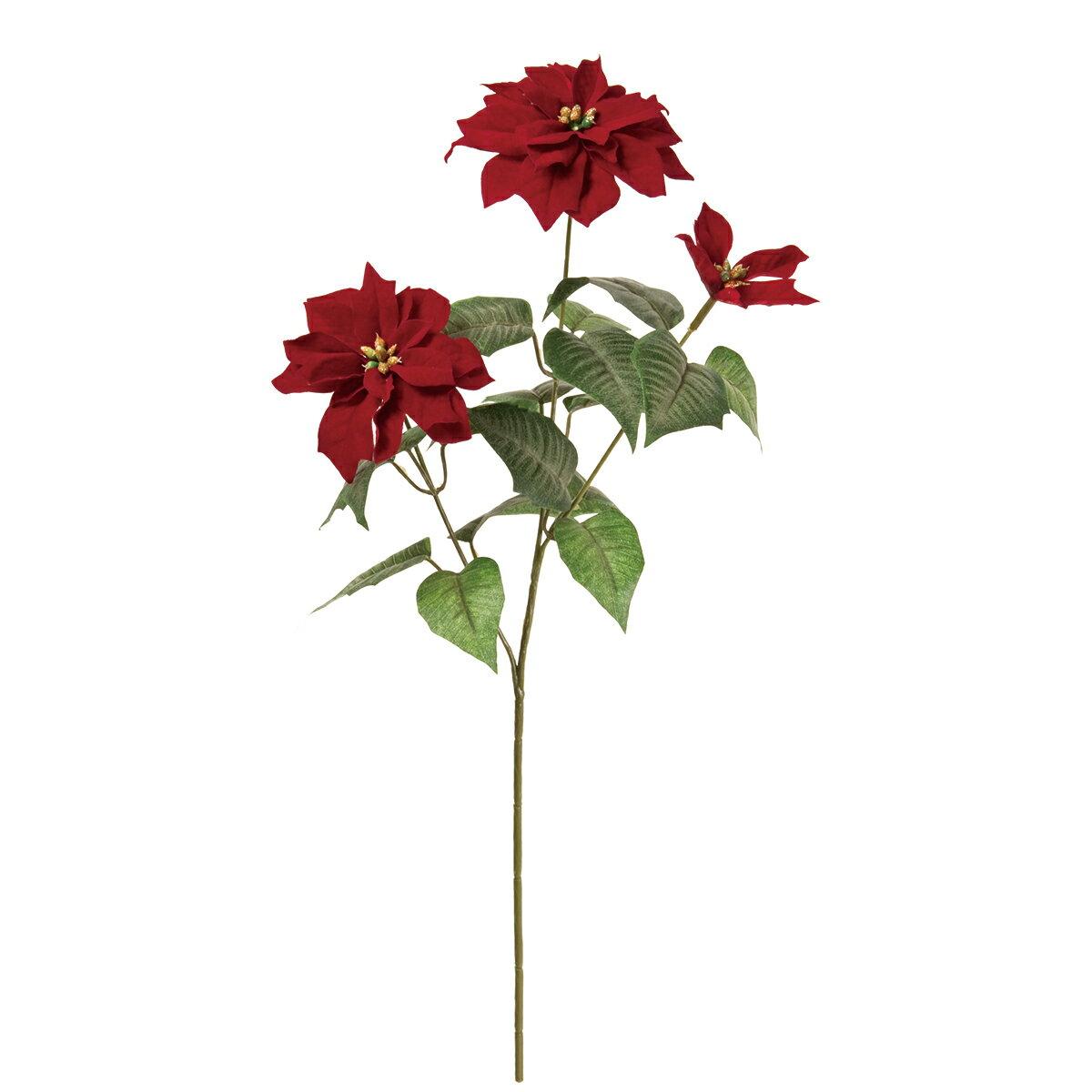 【造花】MAGIQ(東京堂)/メリルミニポインセチアスプレー#7BURGUNDY/FX003901-007【01】【取寄】《 造花(アーティフィシャルフラワー) 造花 花材「は行」 ポインセチア 》
