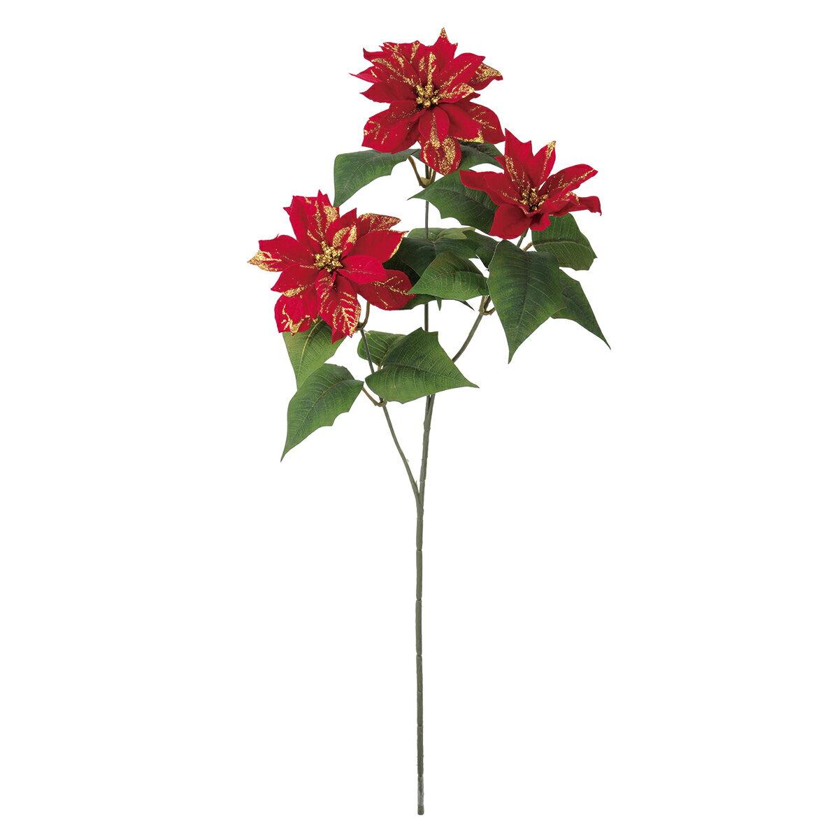 【造花】MAGIQ(東京堂)/エリザベート ポインセチアスプレー RED /FX006321【01】【取寄】《 造花(アーティフィシャルフラワー) 造花 花材「は行」 ポインセチア 》