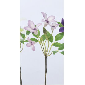 【造花】アスカ/ミニクレマチスx4 ツボミx2 ダ-クラベンダ-/A-32467-006D【01】【01】【取寄】《 造花(アーティフィシャルフラワー) 造花 花材「か行」 クレマチス 》