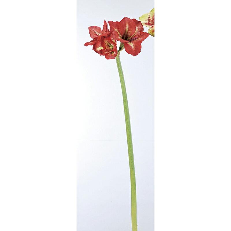【造花】アスカ/アマリリス×3 レッド/A-32916-2【01】【取寄】《 造花(アーティフィシャルフラワー) 造花 花材「あ行」 アマリリス 》