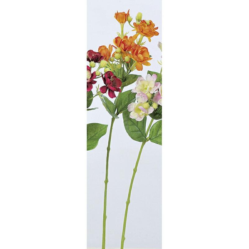 【造花】アスカ/ジャスミン×6 ツボミ×10 オレンジ/A-32965-30【01】【01】【取寄】《 造花(アーティフィシャルフラワー) 造花 花材「さ行」 ジャスミン 》