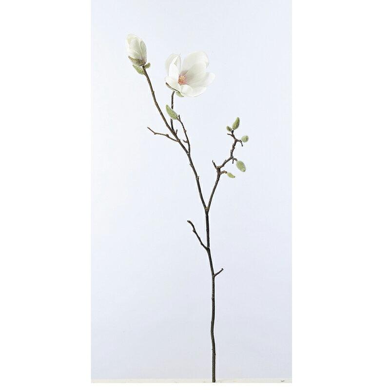 【造花】アスカ/マグノリア×1 ツボミ×10 ホワイト/A-32917-1【01】【取寄】《 造花(アーティフィシャルフラワー) 造花 花材「ま行」 モクレン(木蓮)・マグノリア 》