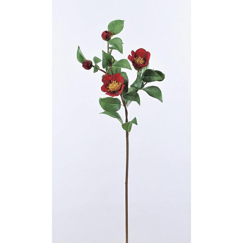 【造花】アスカ/椿 レッド/A-73275-2【01】【取寄】《 造花(アーティフィシャルフラワー) 造花 花材「た行」 ツバキ(椿) 》