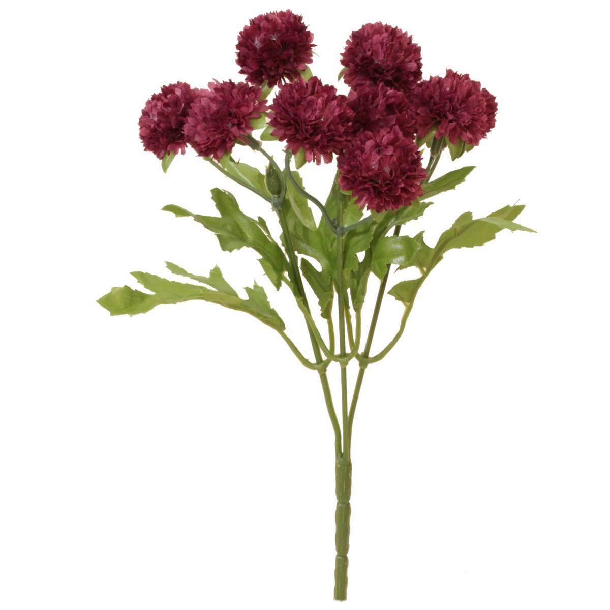 【造花】パレ/マムブッシュ プラム/P-8282-80【01】【取寄】[24本]《 造花(アーティフィシャルフラワー) 造花 花材「か行」 キク(菊)・ピンポンマム 》