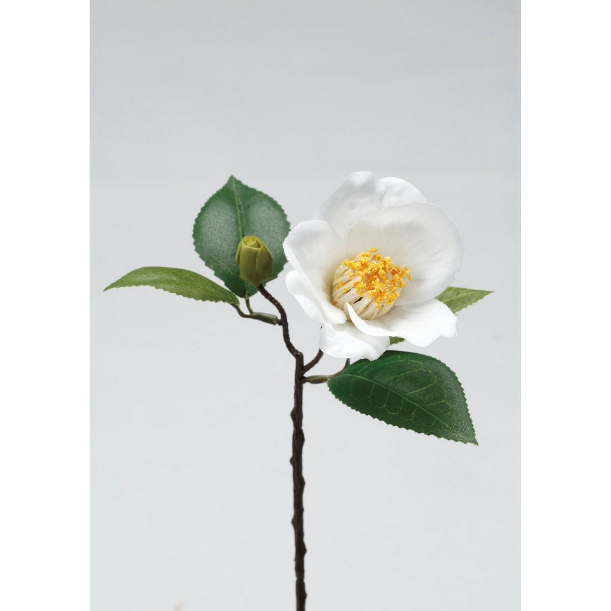 【造花】パレ/椿 ホワイト/P-1241-10【01】【取寄】《 造花(アーティフィシャルフラワー) 造花 花材「た行」 ツバキ(椿) 》
