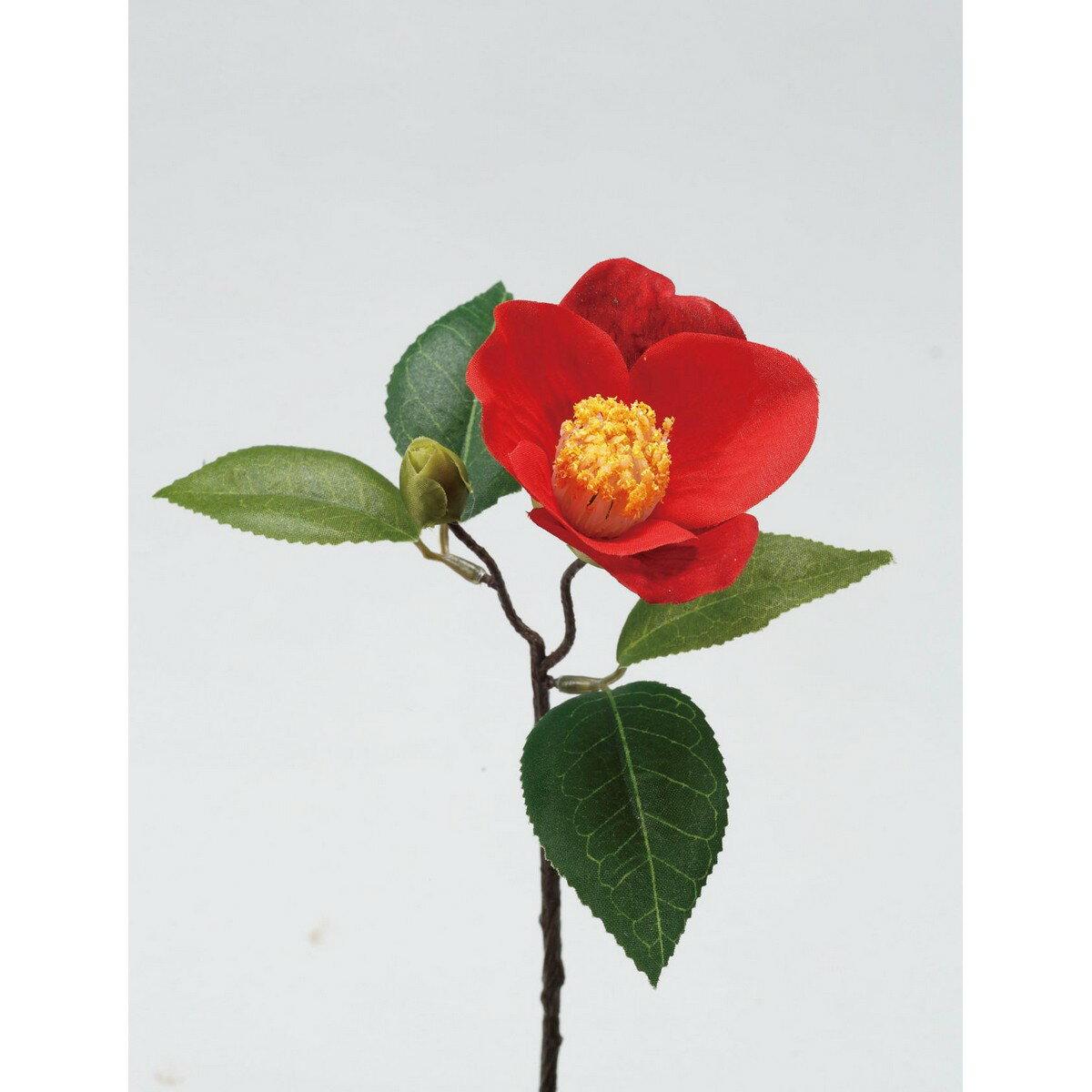 【造花】パレ/椿 レッド/P-1241-50【01】【取寄】《 造花(アーティフィシャルフラワー) 造花 花材「た行」 ツバキ(椿) 》