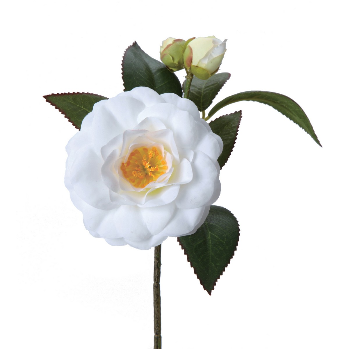 【造花】パレ/椿 ホワイト/P-2020-10【01】【01】【取寄】《 造花(アーティフィシャルフラワー) 造花 花材「た行」 ツバキ(椿) 》