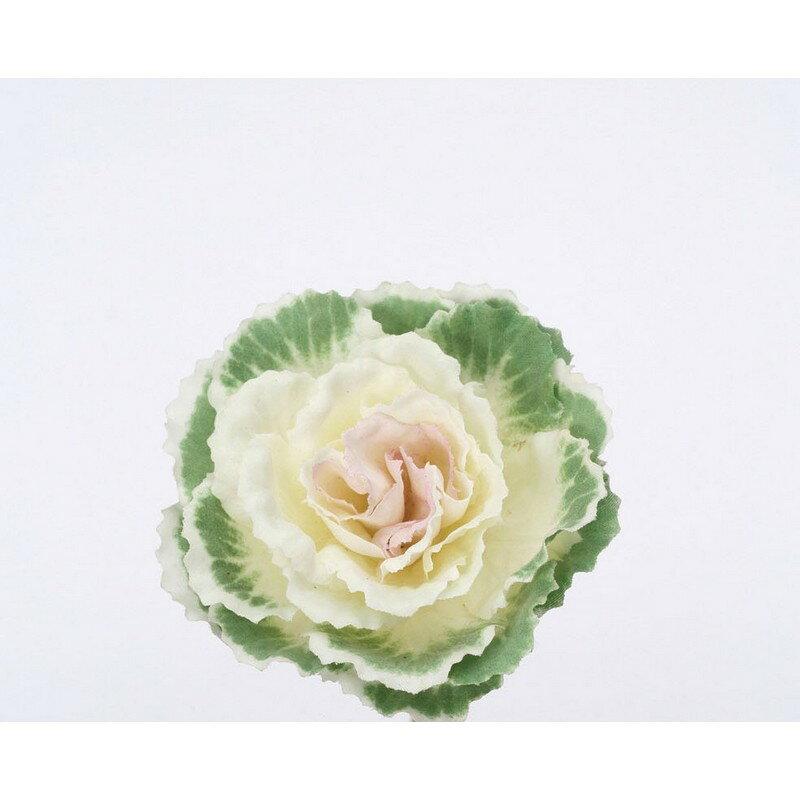 【造花】パレ/葉ボタンS ホワイト/グリ−ン/P-1239-S60【01】【取寄】《 造花(アーティフィシャルフラワー) 造花 花材「は行」 ハボタン(葉牡丹) 》