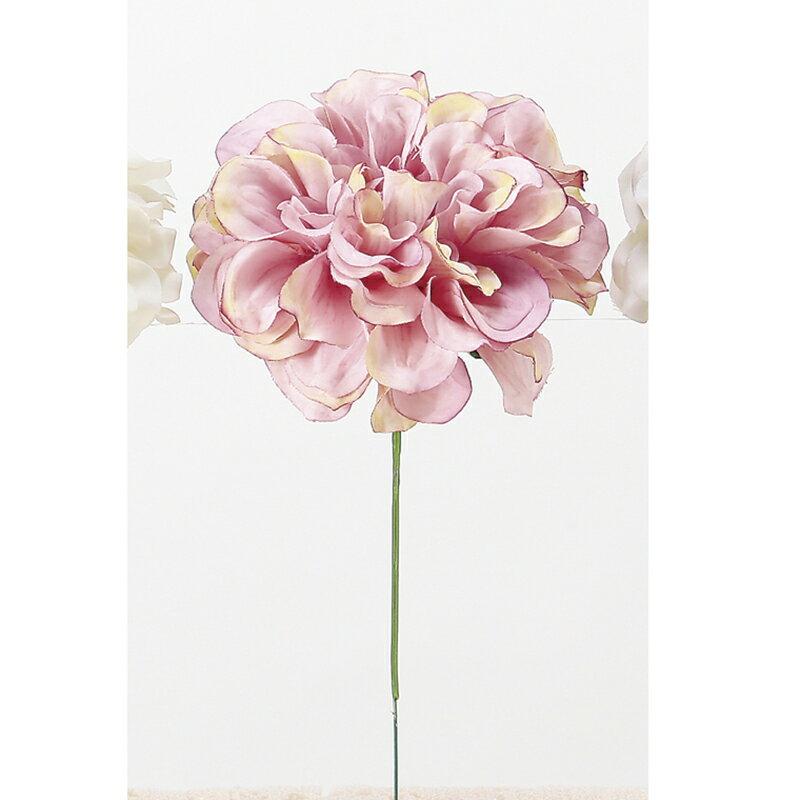 【造花】アスカ/ダリアピック ローズクリーム/A-33066-005C【01】【取寄】《 造花(アーティフィシャルフラワー) 造花 花材「た行」 ダリア 》