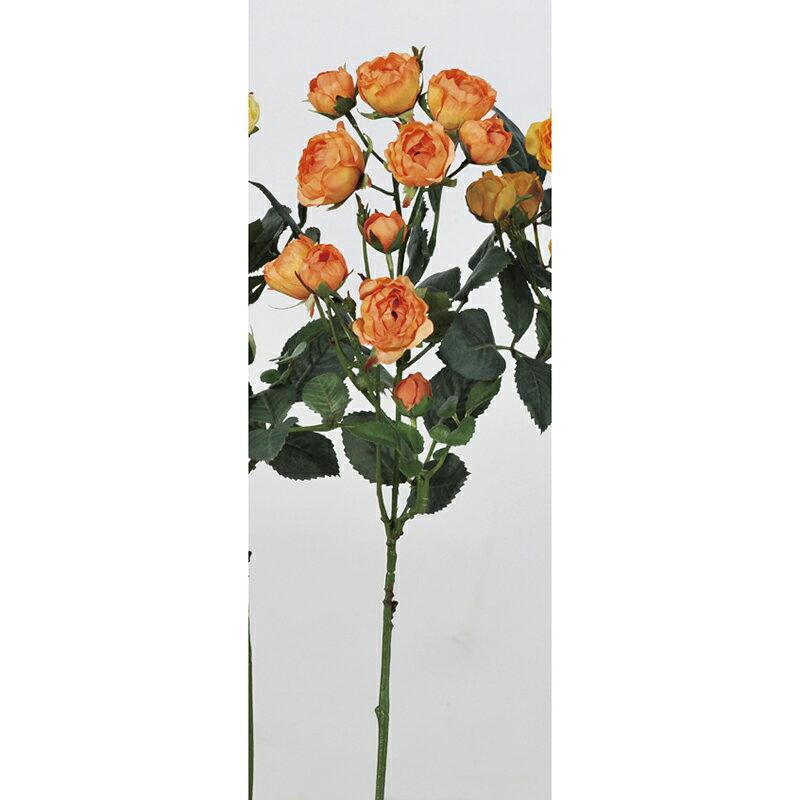 【造花】アスカ/ミニローズ×11 オレンジ/A-33082-030|造花 バラ【01】【取寄】《 造花(アーティフィシャルフラワー) 造花 花材「は行」 バラ 》