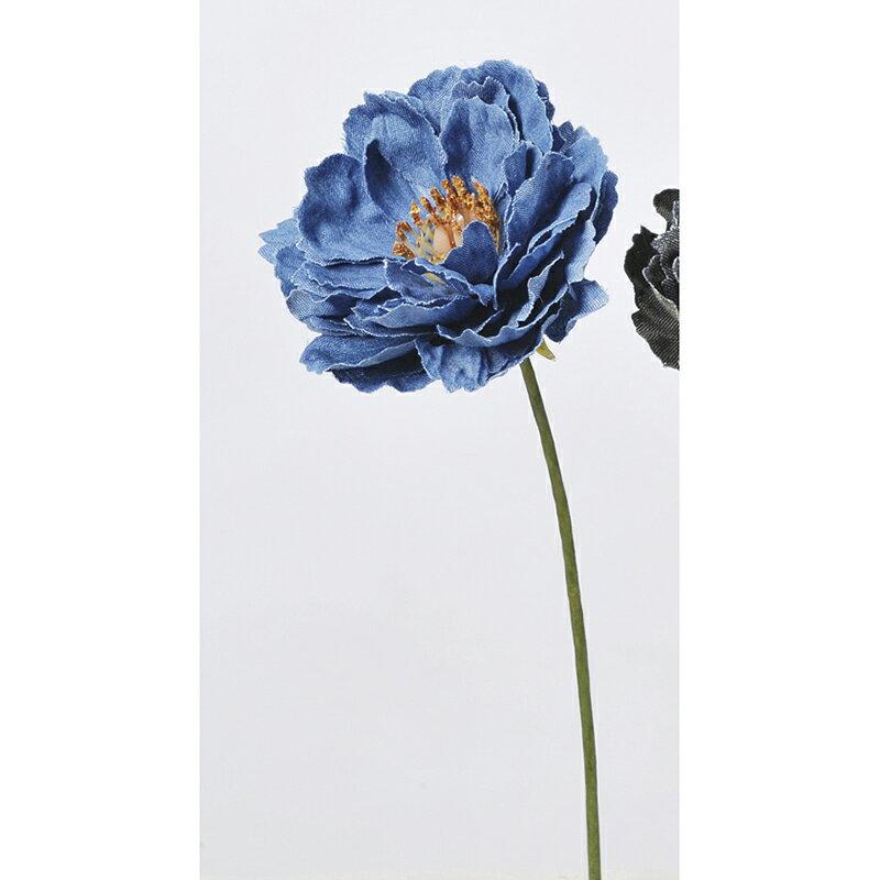 【造花】アスカ/デニムピオニーピック ネイビー/A-39611-009N《 造花(アーティフィシャルフラワー) 造花 花材「さ行」 シャクヤク(芍薬)・ボタン(牡丹)・ピオニー 》