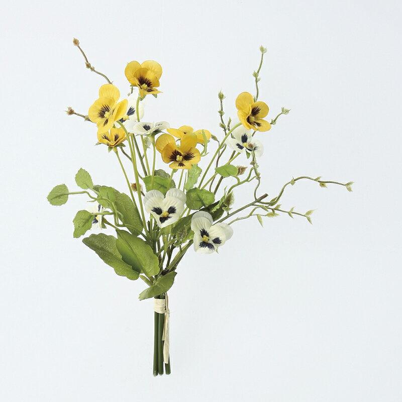 【造花】アスカ/パンジーバンチ×12 イエロー/A-33031-010【01】【01】【取寄】《 造花(アーティフィシャルフラワー) 造花 花材「は行」 パンジー 》