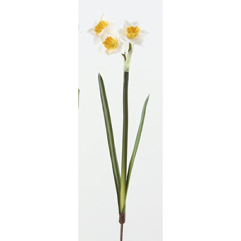 即日 【造花】アスカ/水仙×3 ホワイトイエロー/A-33099-001Y《 造花(アーティフィシャルフラワー) 造花 花材「さ行」 スイセン(水仙) 》