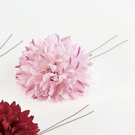 【造花】アスカ/ポンポンフラワーピック ピンク/A-33003-003【01】【01】【取寄】《 造花(アーティフィシャルフラワー) 造花 花材「た行」 ダリア 》