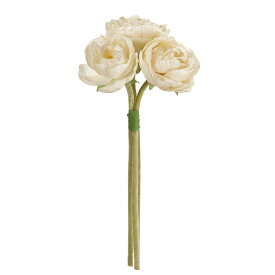 【造花】MAGIQ(東京堂)/フロストラナンブーケ #37 CREAM 171/FM005431-037【01】【取寄】《 造花(アーティフィシャルフラワー) 造花 花材「ら行」 ラナンキュラス 》