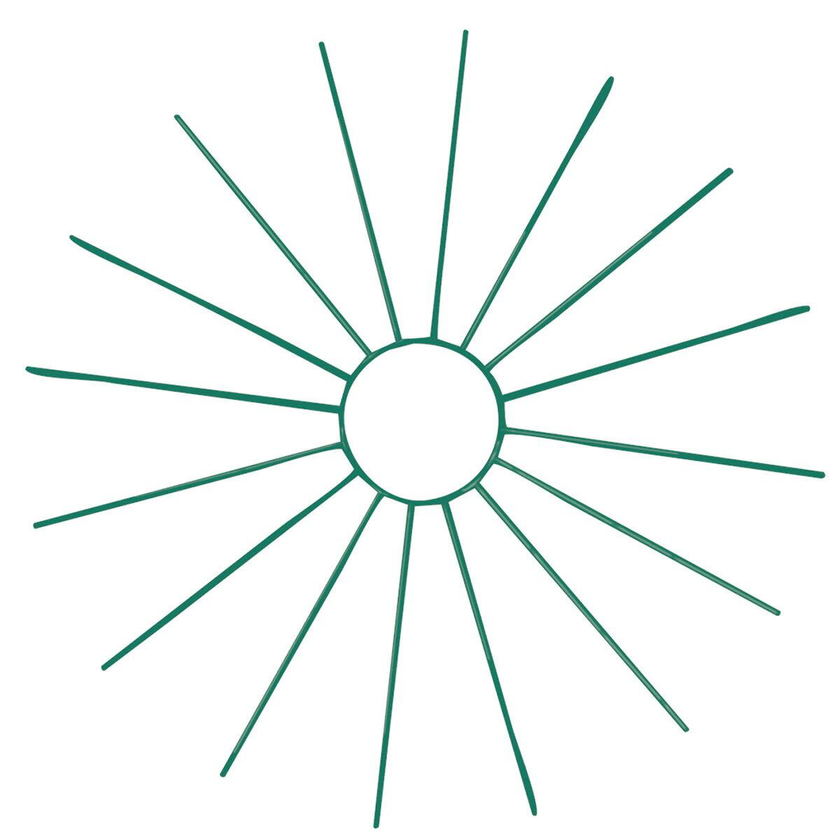 ワイヤーラウンドベースS #24 グリーン/GB016015-024【01】【取寄】《 花器、リース 花器・花瓶 ワイヤー花器 》
