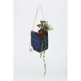 売り切り 【造花】デニムポケット A/ZA002820【01】【取寄】《 造花(アーティフィシャルフラワー) 造花ギフト フラワーアレンジ 》