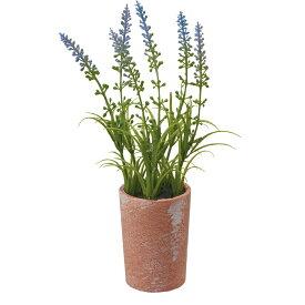 【造花】YDM/ラベンダーポット ブルー/FBC8097-BLU【01】【01】【取寄】《 造花(人工観葉植物) 人工観葉植物「か行」 カジュアルポット 》