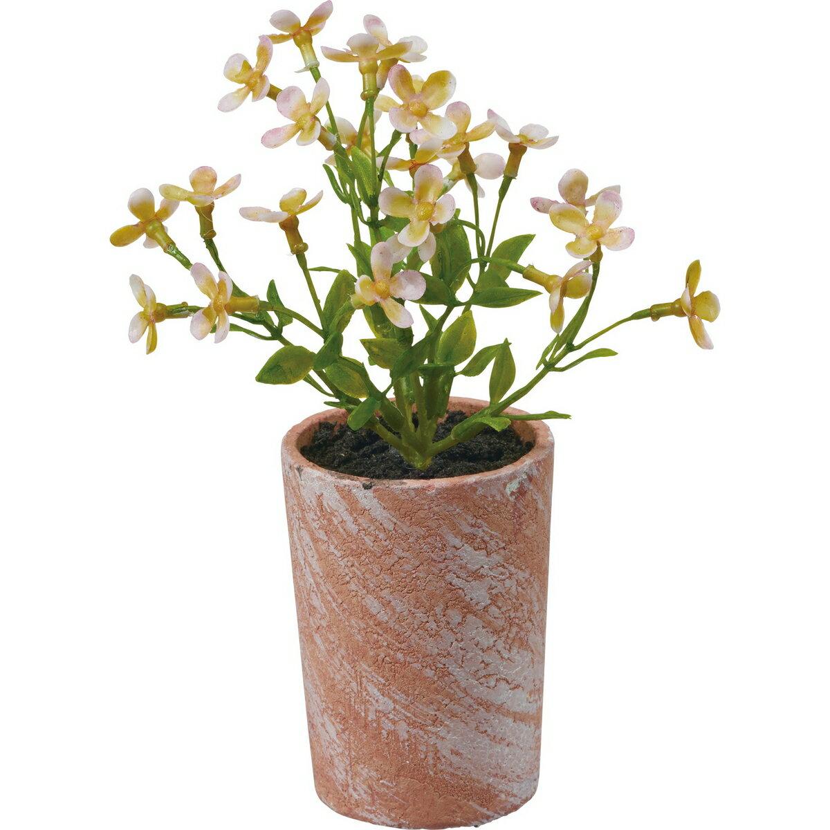 【造花】YDM/ミニフラワーポット ピンク/FBC8098-P【01】【01】【取寄】《 造花(人工観葉植物) 人工観葉植物「か行」 カジュアルポット 》