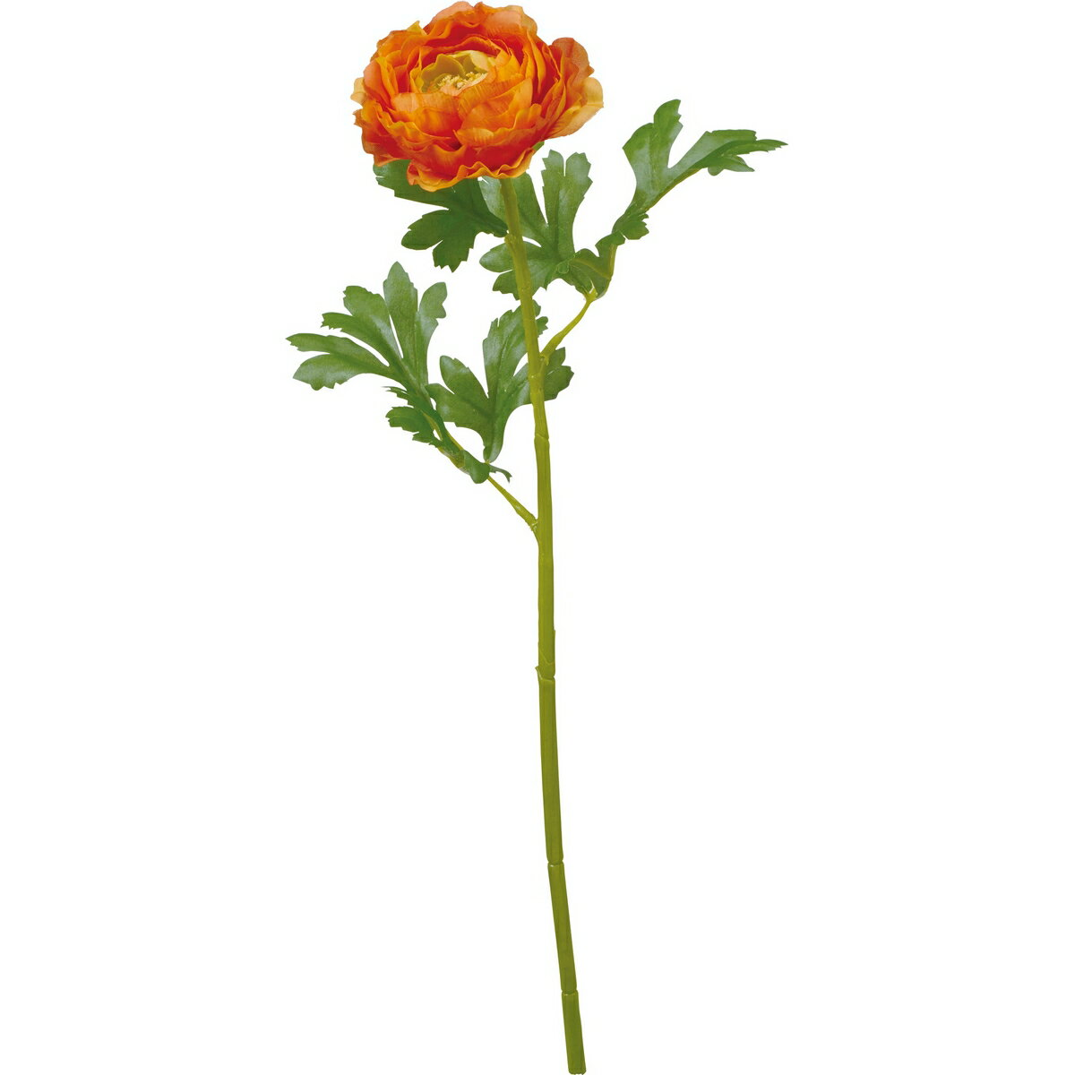 【造花】YDM/シングルラナンキュラス オレンジ/FA7055-OR【01】【取寄】《 造花(アーティフィシャルフラワー) 造花 花材「ら行」 ラナンキュラス 》