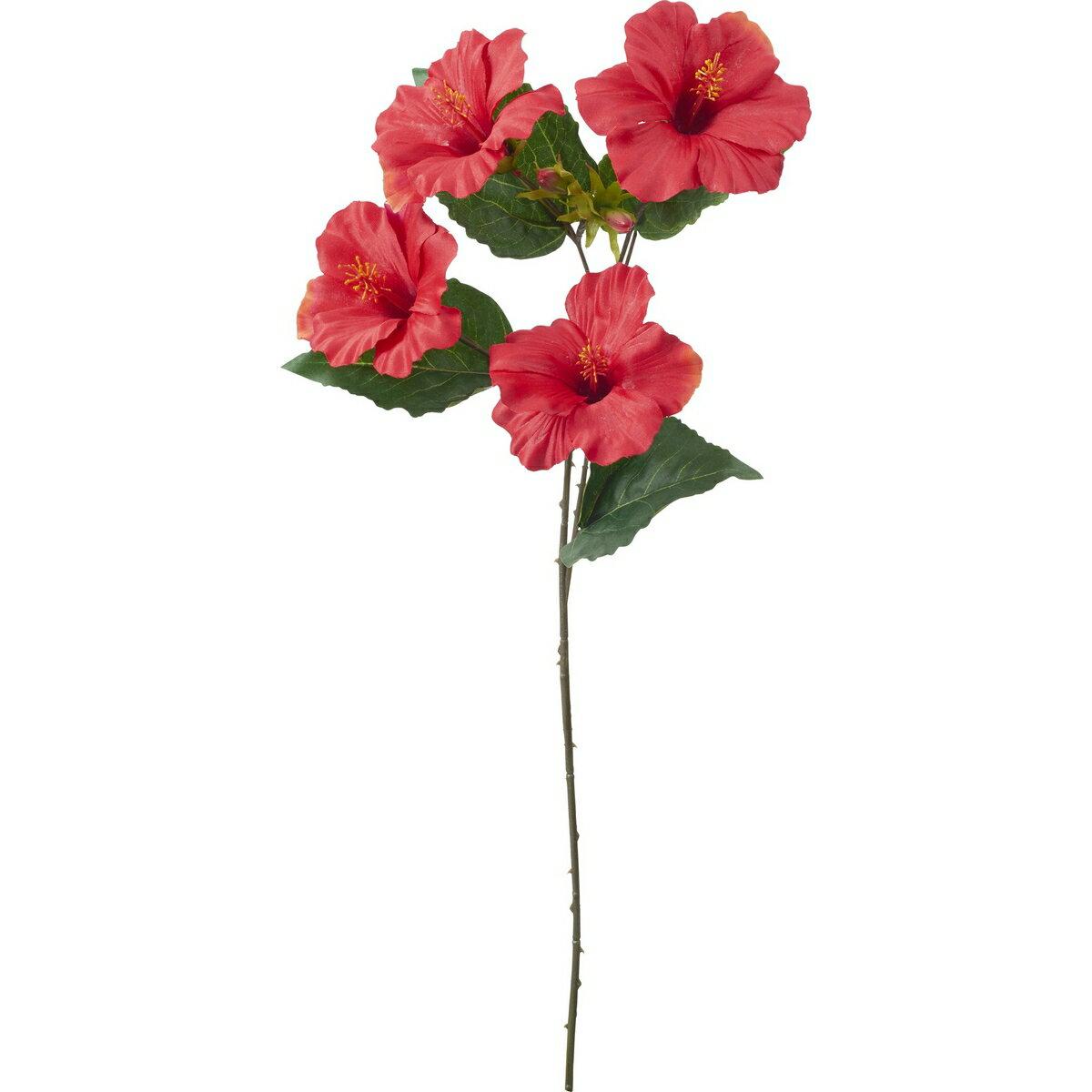 【造花】YDM/ハイビスカススプレー レッド/FS8251-R【01】【01】【取寄】《 造花(アーティフィシャルフラワー) 造花 花材「は行」 ハイビスカス 》