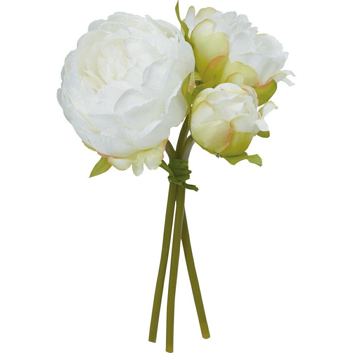 【造花】YDM/ピオニーバンドル ホワイト/FB2449-W【01】|芍薬・牡丹【01】【01】【取寄】《 造花(アーティフィシャルフラワー) 造花 花材「さ行」 シャクヤク(芍薬)・ボタン(牡丹)・ピオニー 》