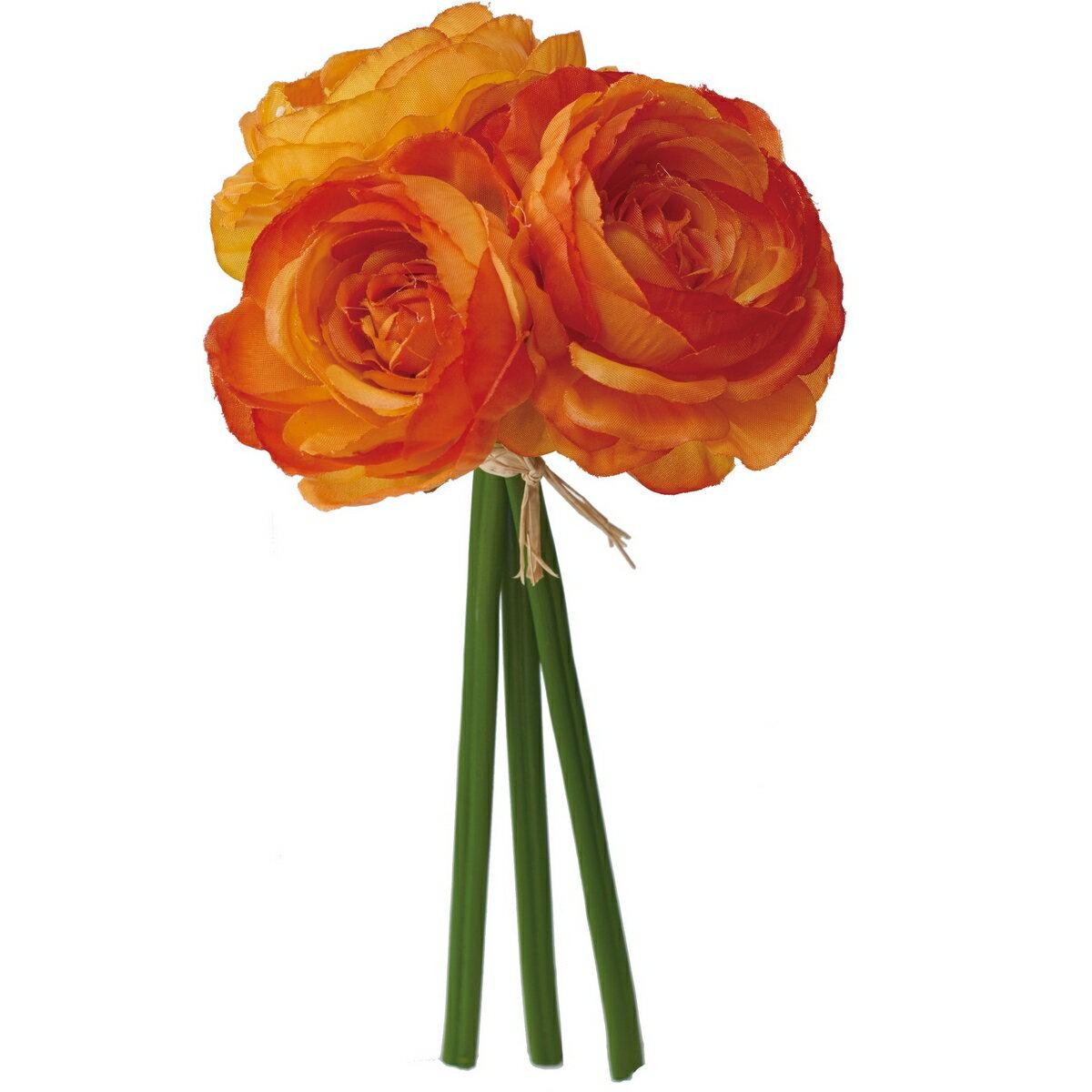 【造花】YDM/ラナンキュラスバンドル*3 オレンジ/FB2460-OR【01】【取寄】《 造花(アーティフィシャルフラワー) 造花 花材「ら行」 ラナンキュラス 》