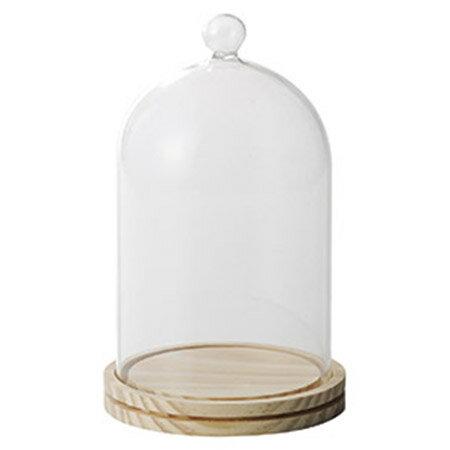 即日★Paseo/ウッドガラスドーム/48-09L-NL【00】《 花器、リース 花器・花瓶 ガラス花器 》