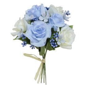 即日 【造花】パレ/ミックスローズバンドル ブルー/P-8302-70《 造花(アーティフィシャルフラワー) 造花 花材「は行」 バラ 》