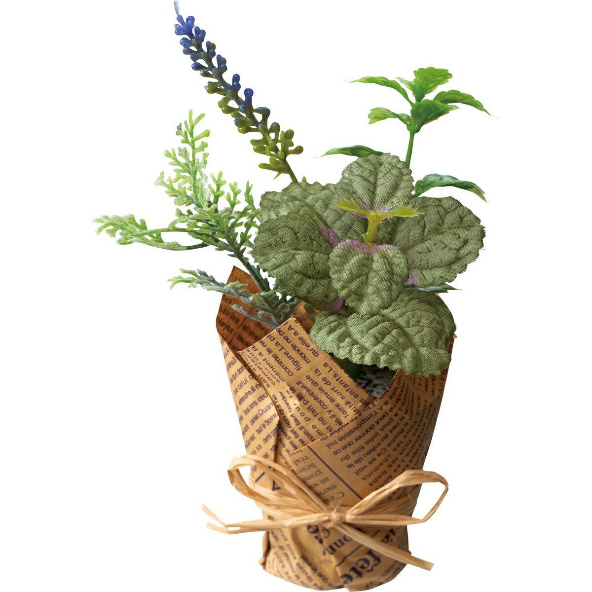 【造花】YDM/グリーンポットミントミックス ダークグリーン/GLA-1412-DGR【01】【取寄】《 造花(アーティフィシャルフラワー) 造花ギフト フラワーアレンジ 》