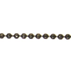 NBK/ネックレスボールチェーン ブラックニッケル BC1.5C/KH23【01】【取寄】手芸用品 アクセサリー アクセサリーパーツ 手作り 材料