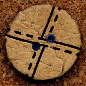 NBK/ナチュラルボタン Φ18mm 6個/CG1303【07】【取寄】 手芸用品 ソーイング資材 ボタン 手作り 材料