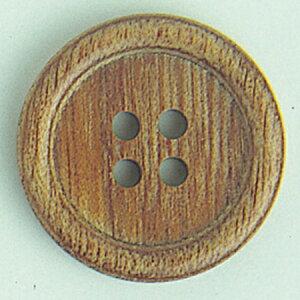 NBK/木ボタン ライトブラウン 11.5mm 12個/CH1000-11【01】【取寄】