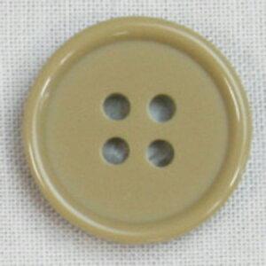 NBK/カラーボタン 11.5mm 12個 濃ベージュ/CG1700-11-42【01】【取寄】手芸用品 ソーイング資材 ボタン 手作り 材料