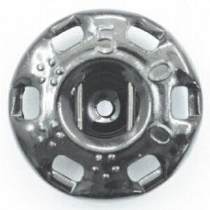 NBK/ニュー500番 スナップ 黒(黒ニッケル) 144個付/F500-0B【01】【取寄】手芸用品 ソーイング資材 ボタン 手作り 材料