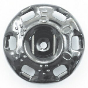 NBK/ニュー500番 スナップ 黒(黒ニッケル) 72個付/F500-1B【01】【取寄】手芸用品 ソーイング資材 ボタン 手作り 材料