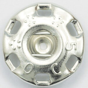 NBK/ニュー500番 スナップ 白(シルバー) 72個付/F500-1W【01】【取寄】手芸用品 ソーイング資材 ボタン 手作り 材料
