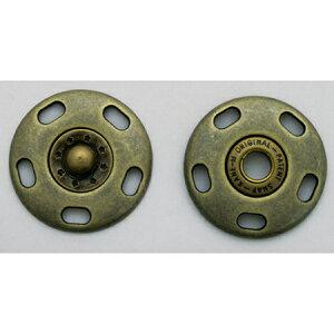 NBK/ジャンボスナップ 20mm 3個 アンティークゴールド/G506-78-20-AG【01】【取寄】手芸用品 ソーイング資材 ボタン 手作り 材料