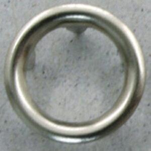 NBK/リングスナップボタン 10mm S シルバー 6組/F12-52【01】【取寄】手芸用品 ソーイング資材 ボタン 手作り 材料